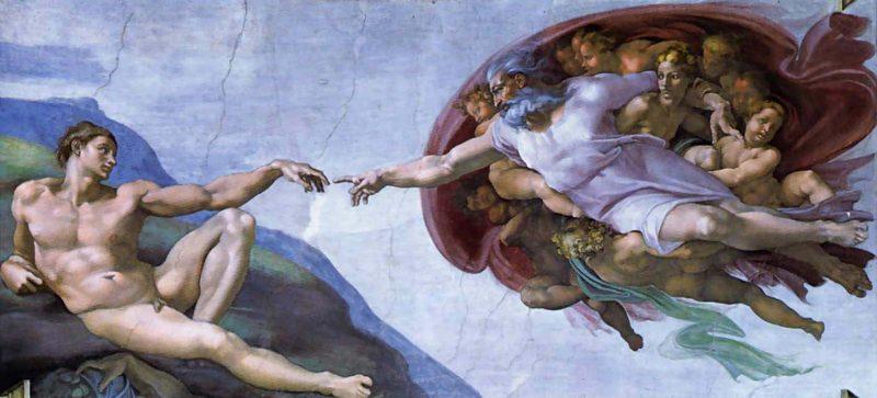 Сотворение Адама.