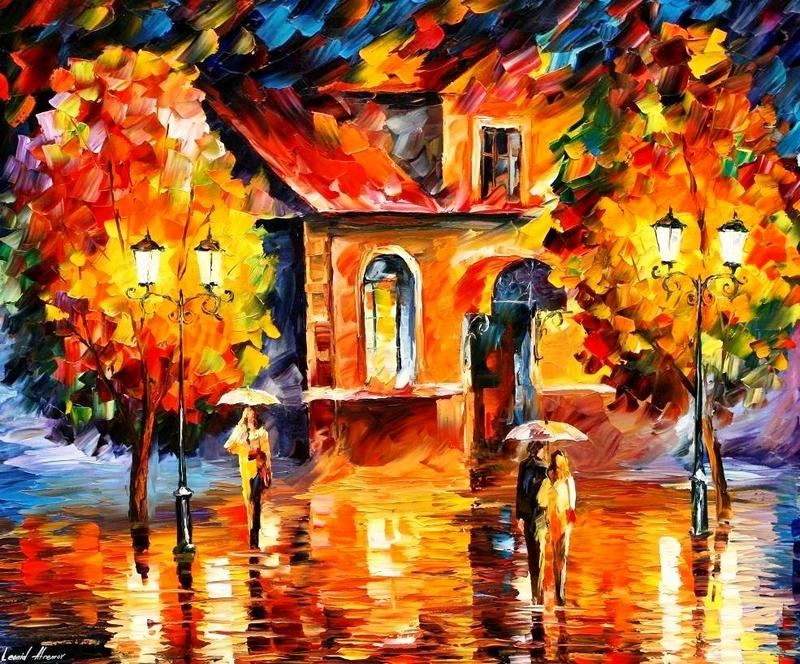 Танец под дождем.